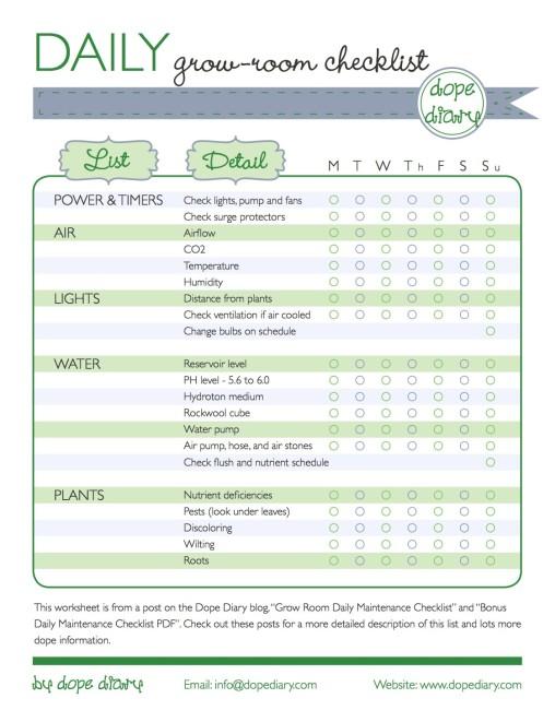 Daily Grow-Room Checklist