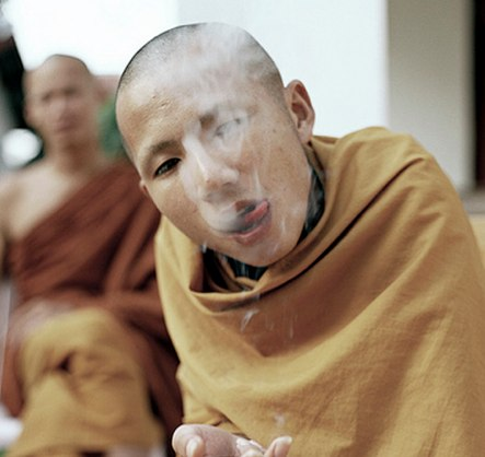 Monk Smoking